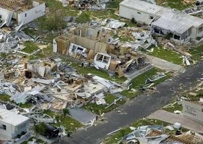 Hurricane devastation - destroyed homes