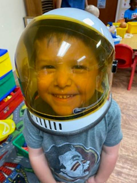 Cute Little Boy Dressed as anAstronaut