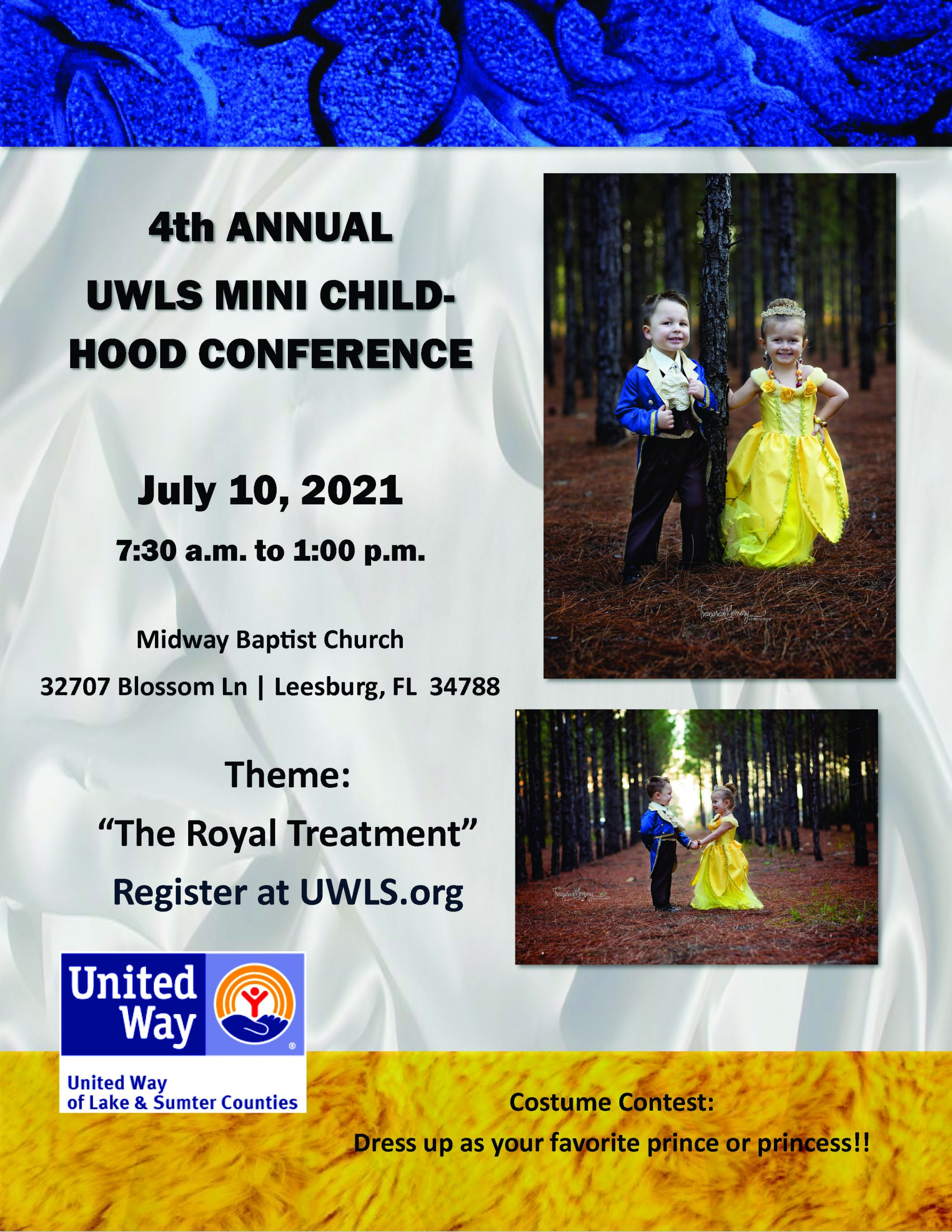 4th ANNUAL UWLS MINI CHILD-HOOD CONFERENCE July 10, 2021 7:30 a.m. to 1:00 p.m.